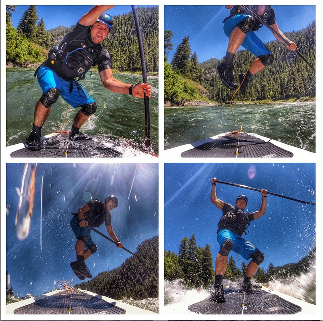 @spencer_lacy Check out this big kahuna jump boof sequence. Got some big air on this one! #badfishsup #wernerpaddles#levelsix #astral #welivewater