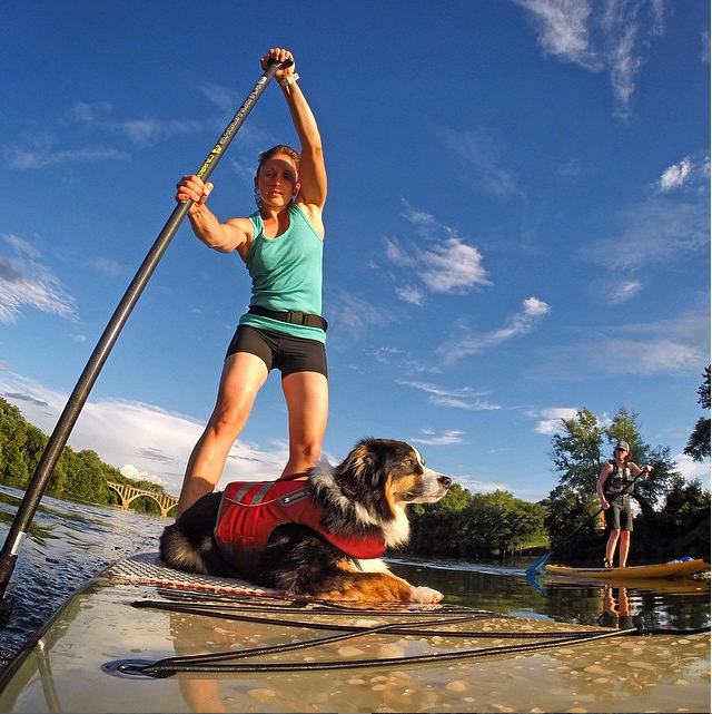 @sup_with_pup I call my dogs my training partners. Adding extra weight to the board = more calories burned. Thanks Kona!