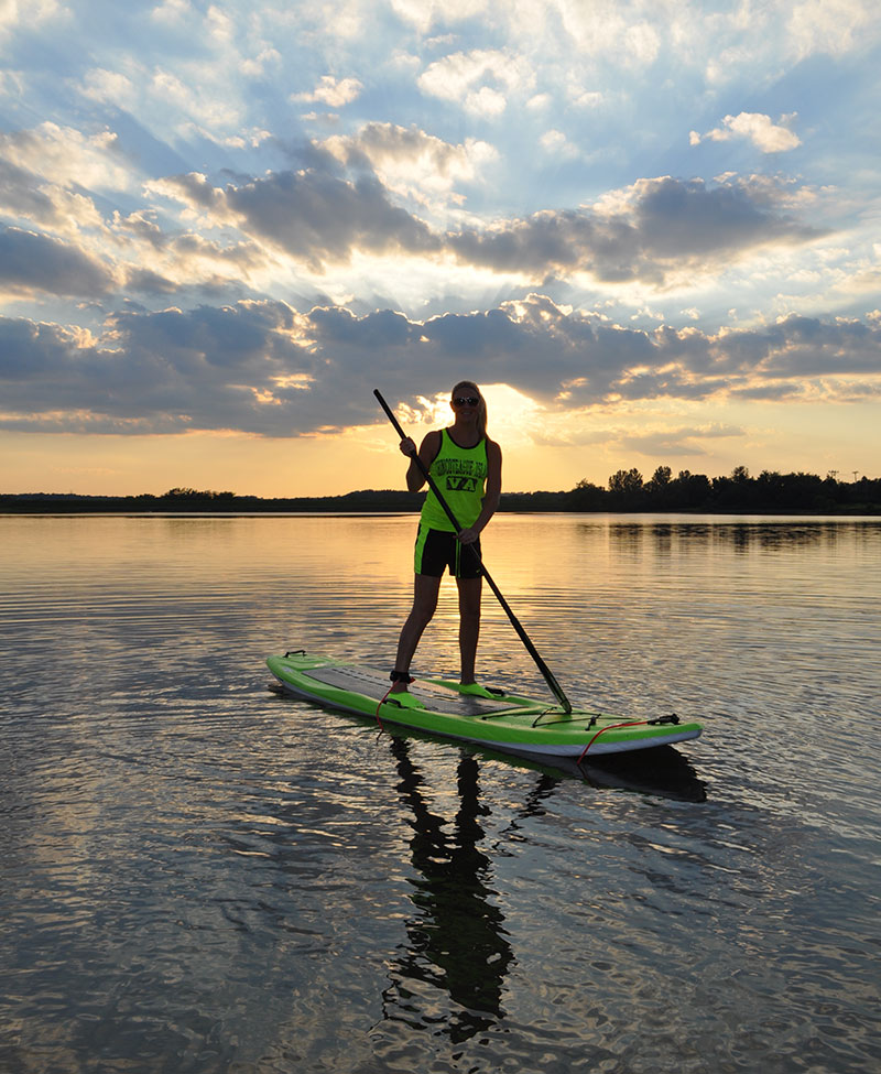 Ashley Minick: Smooth gliding along Greenlick Dam, Pennsylvania... on my new SUP board!