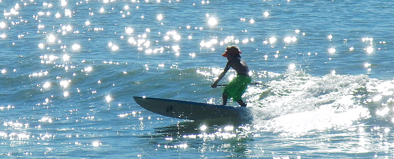 Delia Passos: Silver noon...this rad little man catching the best waves in Dana Point at BOP 2013