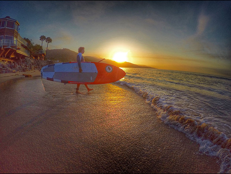 Jeff Chertow: Sunrise Surf in Malibu.