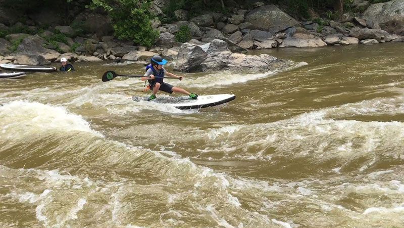 Jeff Ludwig: Style is forever... Surfing the Potomac at Virginia Chute with Paddlestroke SUP, just 10 miles from the nations capitol!