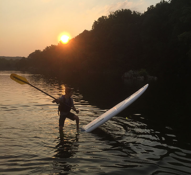 Jeff Ludwig: Bethesda's Zach Ludwig dropping the tail while the sun drops on the Widewater section of the C&O Canal in Potomac, Maryland.
