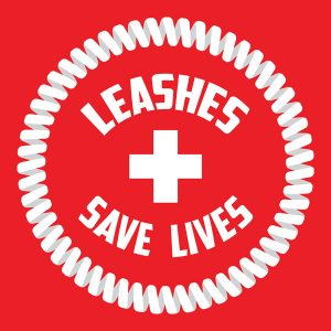 Leashes Save Lives Sticker