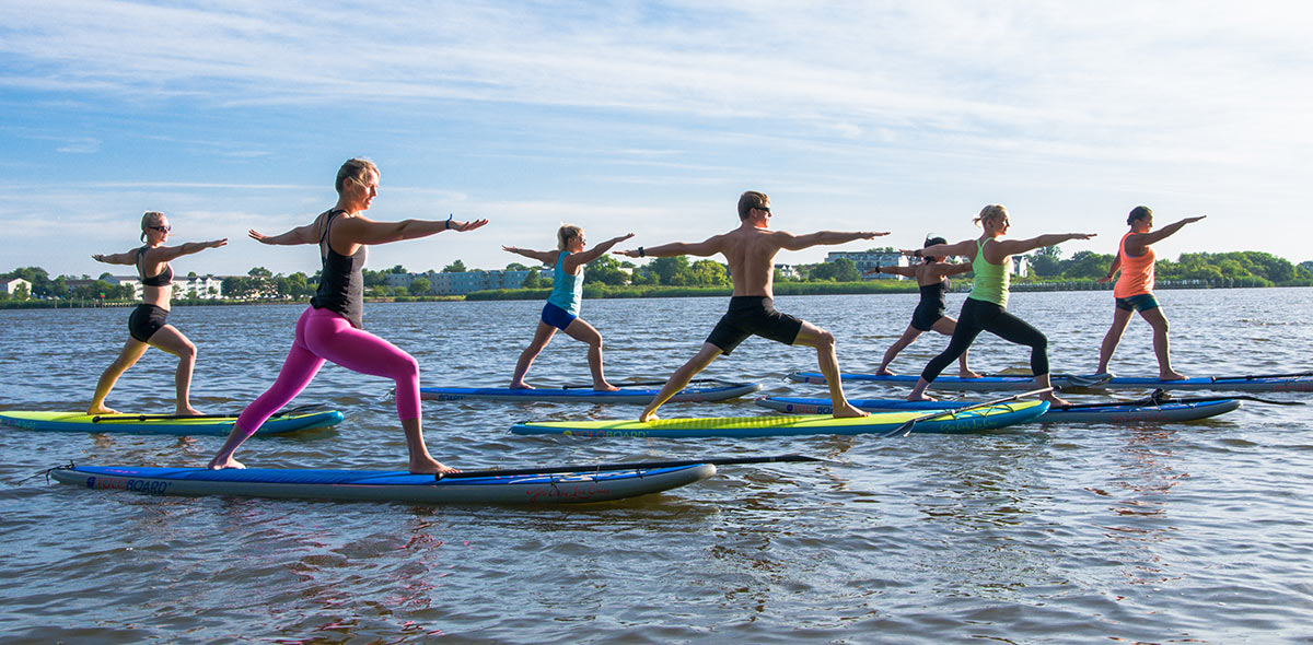 one woman's experience with becoming sup yoga certified