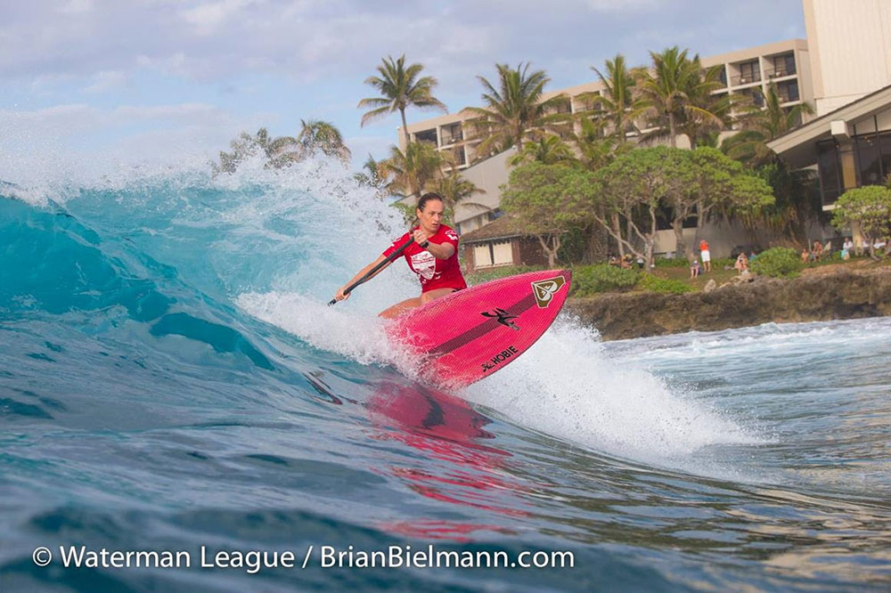 Caroline Angibaud has a disappointing finish in the US Open, but after her win at Turtle Bay is able to make the podium in 3rd