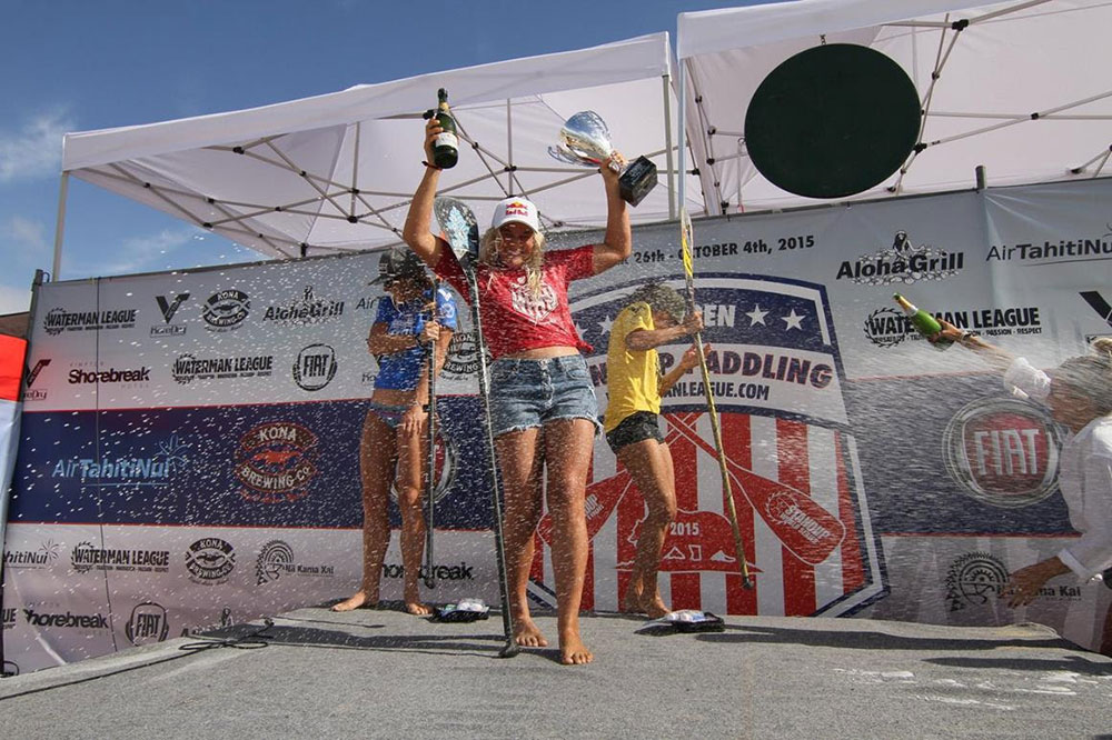 Izzi Gomez secures her 2nd World Title at the US Open of Stand Up Paddling in Huntington Beach California