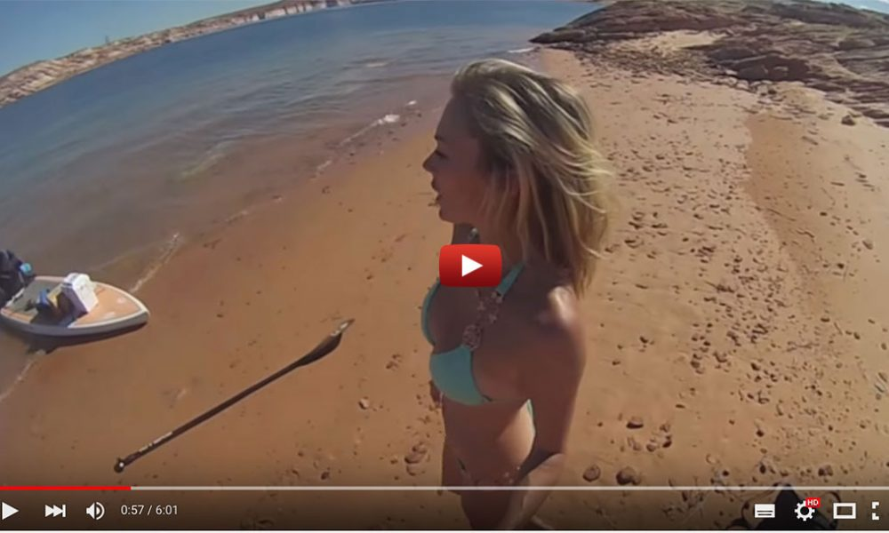 Solo Sup Camping On Antelope Island Lake Powell Paddleboards