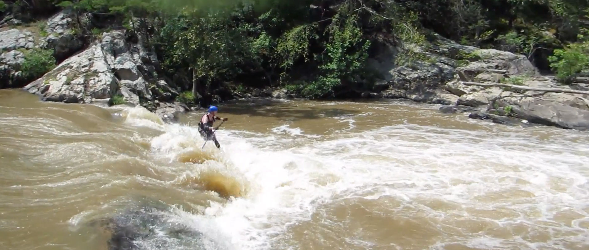 Will Saylor Running Needle Falls On French Broad River