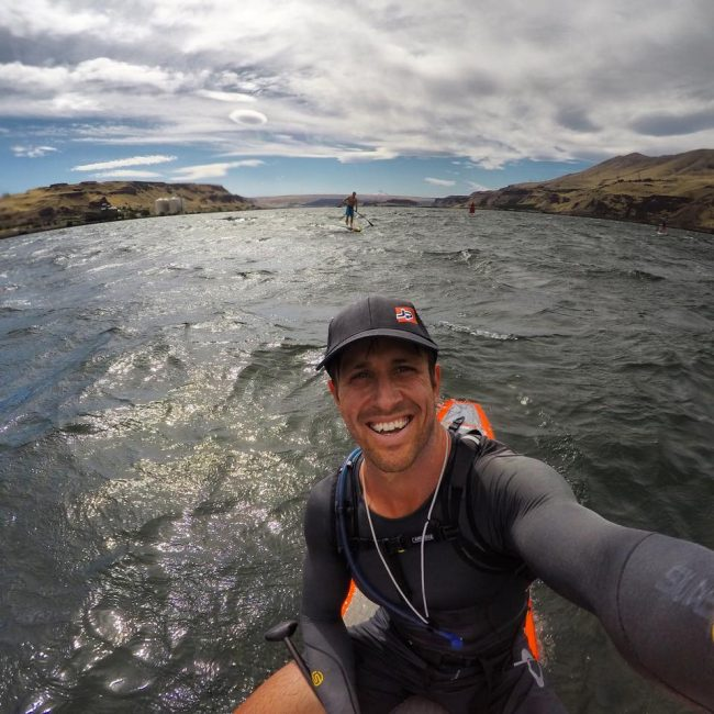 It's easy to smile when paddling in the Columbia River Gorge.