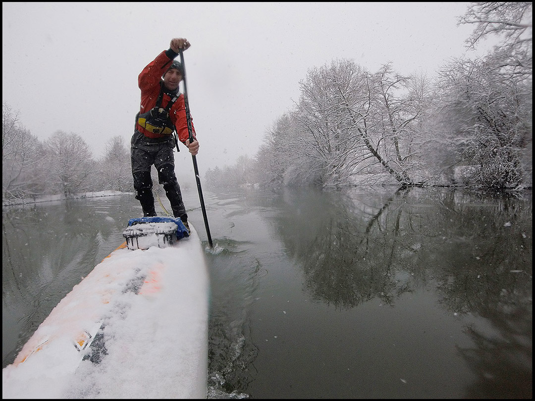 Chris Christie winter paddling