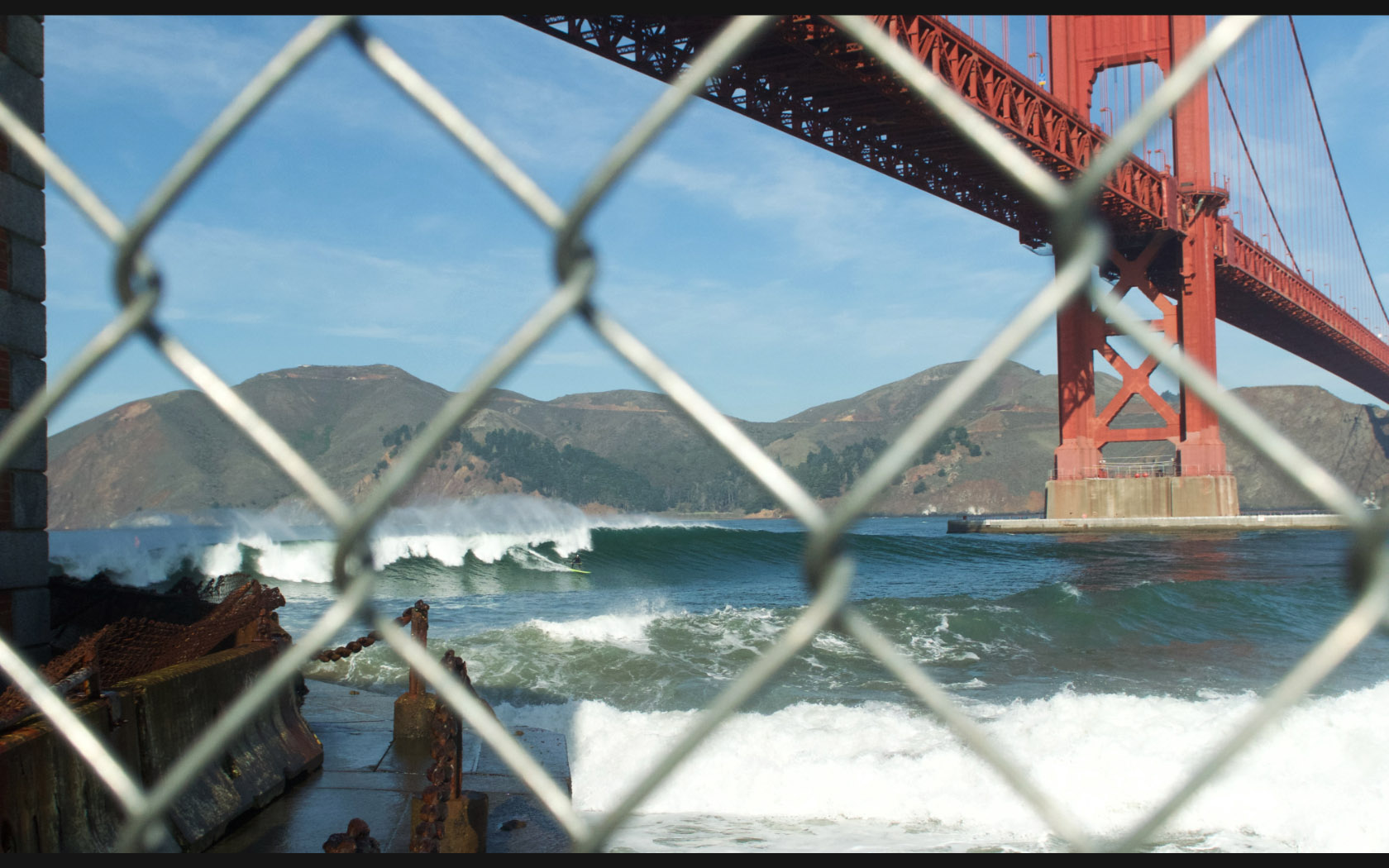 Jean Rathle Fort Point San Francisco chain link landscape