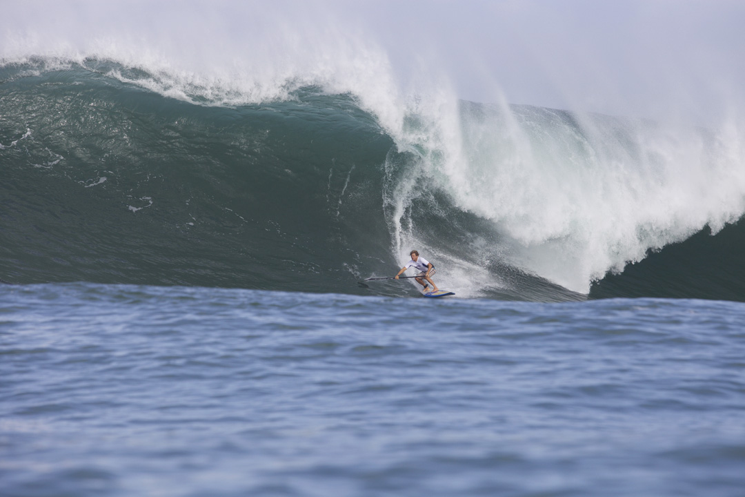 Robin Johnston Waimea sup surf