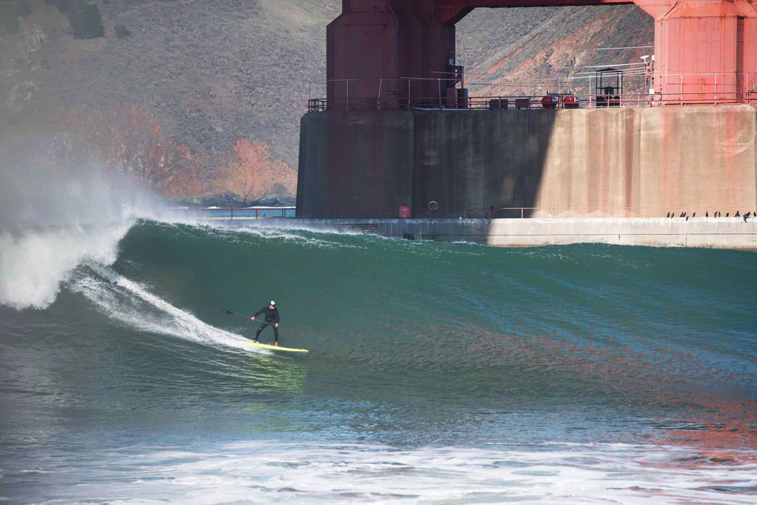 Jean Rathle SUP Surf Fort Point San Francisco
