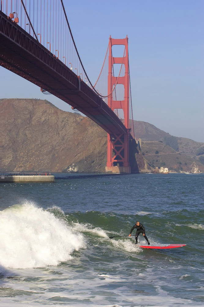 Sup Surf Golden Gate Bridge San Francisco