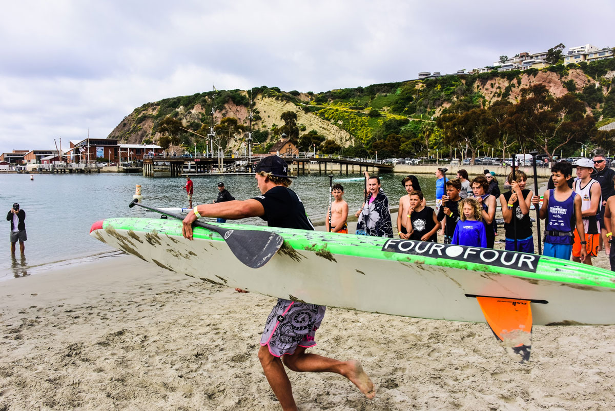 Noa Hopper showing The Paddle Academy kids the need for speed