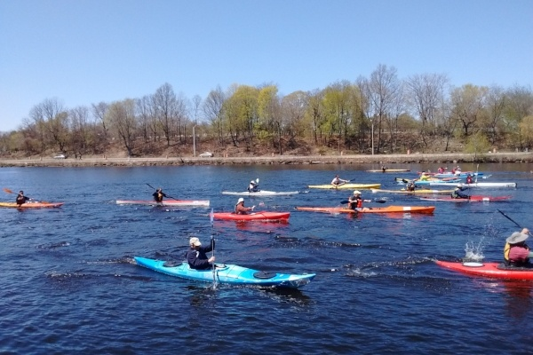 Run of the Charles kayak