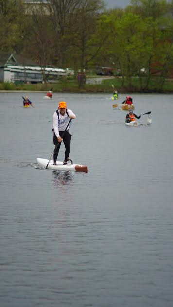 Run of the Charles paddler