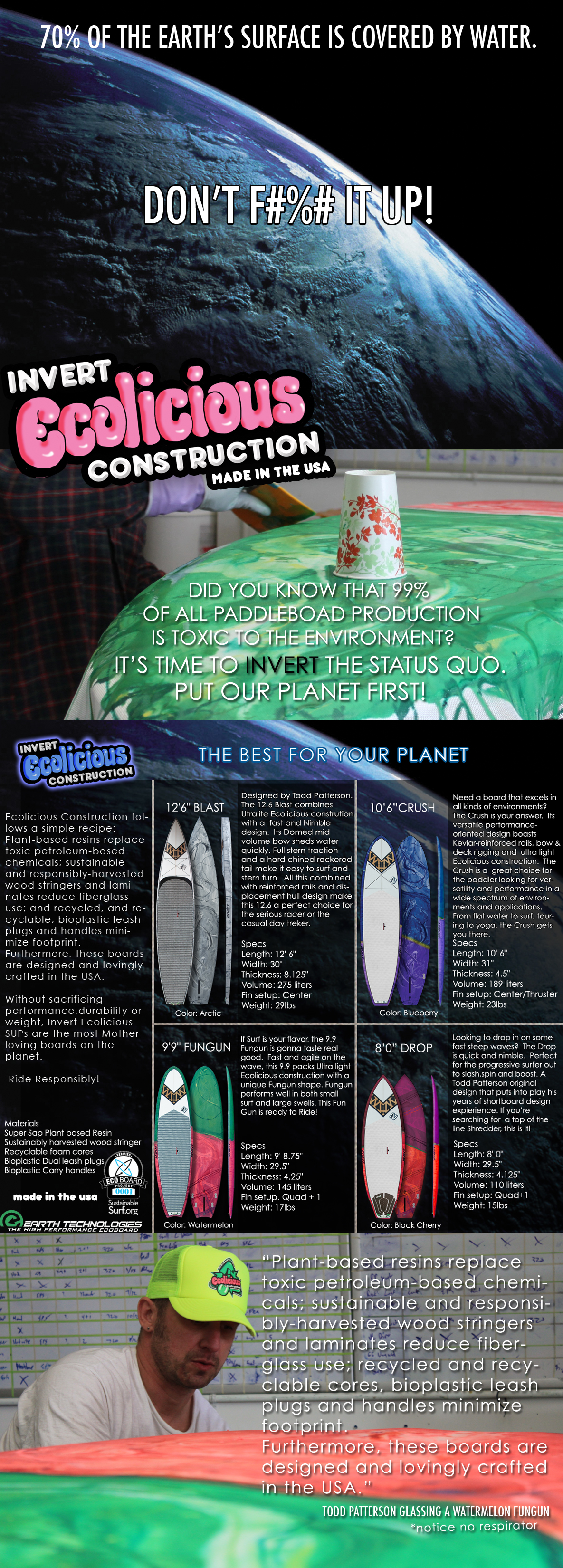 Eco Friendly Stand up Paddleboards