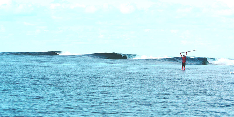 """F-One Sup Co founder Raphael Salles """"someplace in the Southern ocean""""!"""