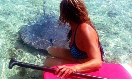 NIkki Gregg with stingray