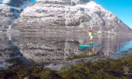Standup Paddling Above the Arctic Circle In Breathtaking Norway