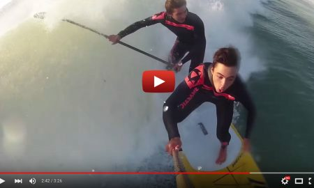 Awesome Clip Of 2 Brothers Tandem Sup Surfing in France