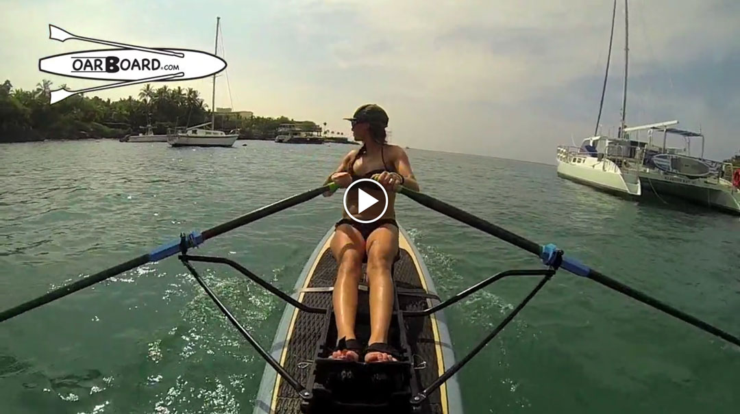 Cross Train With The Oar Board SUP Fit-On-Top Rower