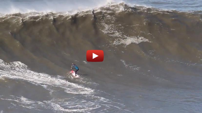 Glyn Ovens Sup Nearly Wrecked at Burly Nazare