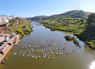 In 2014 Nick Robinson paddled 32km down the Guadiana River