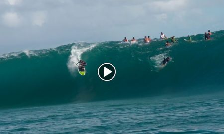 Kealii Mamala Paddling big clean Tahiti By Jimmy Lewis Boards