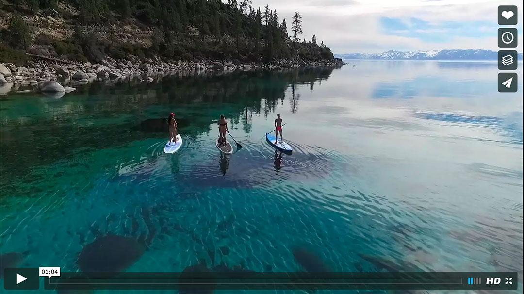 Warm Winter Sup Session On Beautiful Lake Tahoe