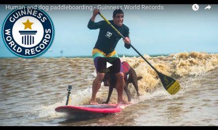 New Guinness Record: Longest Tidal Bore Ride By Man and Dog