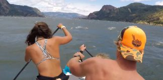 17 Foot Board Plus Five Stand Up Paddlers Equals Epic Fun