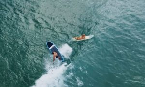 A Perfect Day With Jimmy Lewis & The Black & Blue Machine Stand up paddleboard