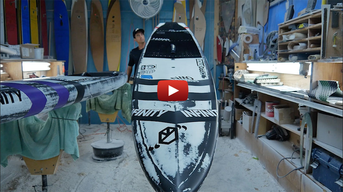 Lead Designer for Infinity Sup, Dave Boehne gives us the lowdown on the all new 2016 Whiplash from the speed-freaks sanctuary conveniently located inside the Infinity factory.