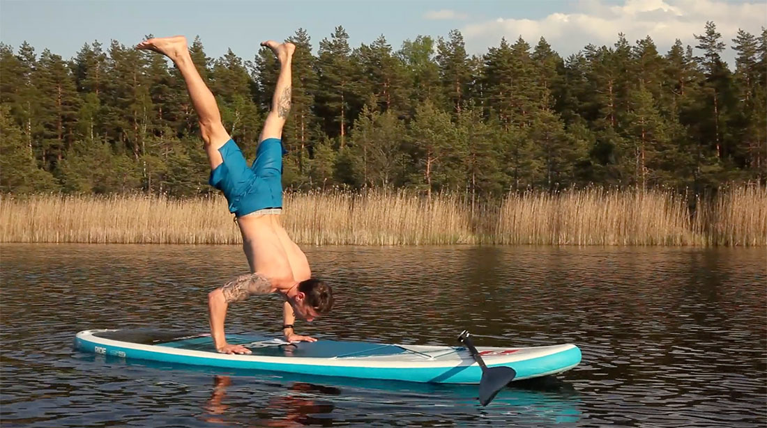 This Is Stand Up Paddle Fitness Latvia Style!