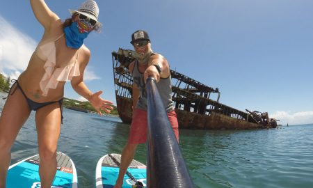 A sup Adventure in Roaton Honduras
