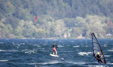 Sup Foil Sessions At The Gorge | Taking Flight On a Stand Up Paddleboard