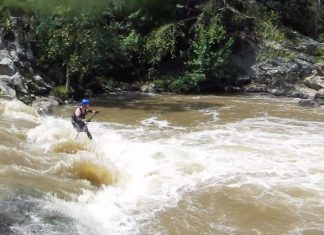 Will Saylor Running Needle Falls On French Broad River With Bounce Sup