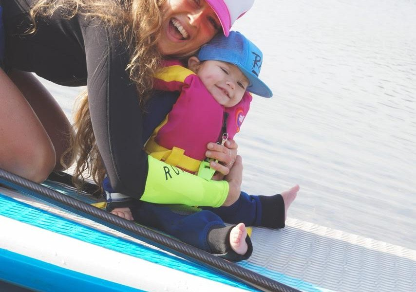 stand up paddling with your baby 2