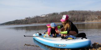 stand up paddling with your baby 5