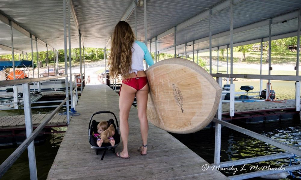 stand up paddling with your baby 9