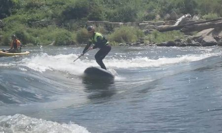 Super Fun Skateboard Inspired River Standup Paddling