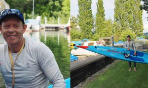 Bart de Zwart SUP World record distance Switzerland Starboard