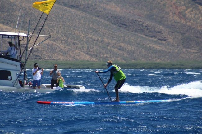 Connor Baxter Starboard Maui to Molokai M2M boat