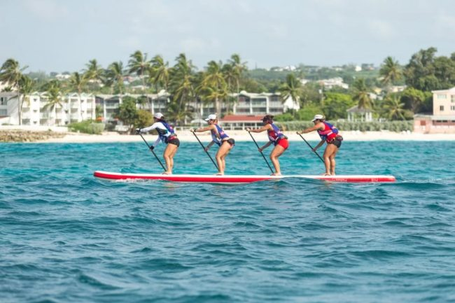 Red Ladies Red Paddle Co Dragon World Series Barbados