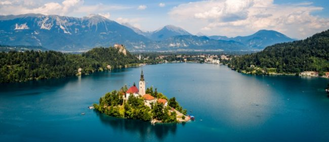 Lake Bled Slovenia stand up paddle destination
