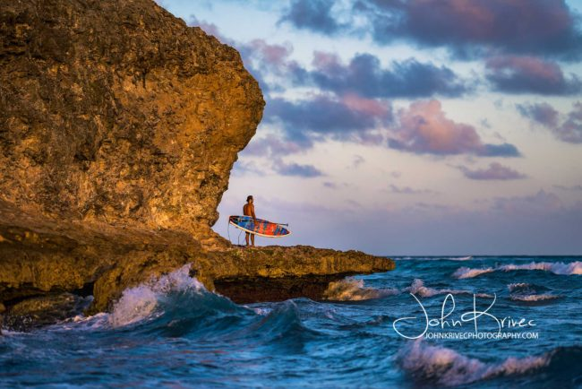 Barbados Jason Latham sunset John Krivec sup surf dream