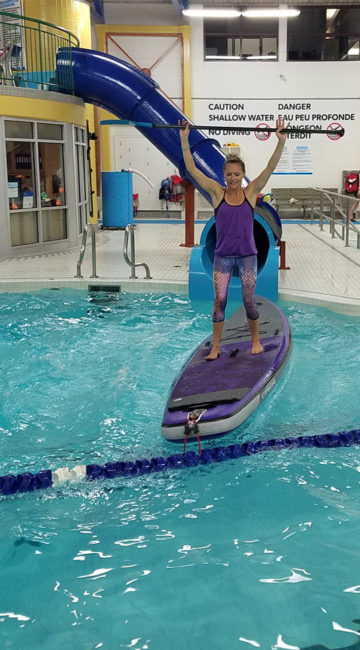 SUP Yoga Starboard pool inflatable
